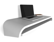 Orange 22 Minimal Wall Desk in White - SMALL