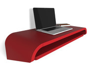 Orange 22 Minimal Wall Desk in Red - SMALL