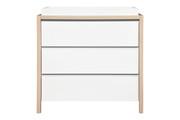 Babyletto Bingo 3 Drawer Dresser White Wash Natural