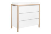 Babyletto Bingo 3 Drawer Dresser White Wash Natural