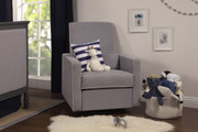 DAVINCI Piper Upholstered Recliner - Grey and Cream