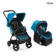 iCoo Acrobat & iGuard Infant Seat - Fishbone Blue