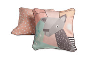 Menagerie Cubist Print Toddler Pillow Deer