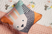 Menagerie Cubist Print Toddler Pillow Rabbit