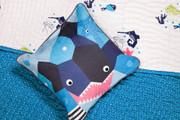 Oceanography Cubist Toddler Pillow Shark