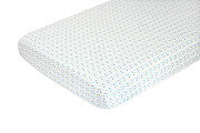 Oceanography Organic Percale Sheet Confetti