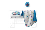 Oceanography Organic Cotton Hand Quilted Blanket