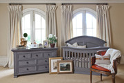 MDB Classic Wakefield 4 in 1 Crib - Washed Grey