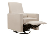 DAVINCI Piper Upholstered Recliner - Cream and Cream