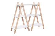 Babyletto Dottie Bookcase in White & Washed Natural