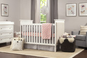 Davinci Lila 3 in 1 Convertible Crib White & Oatmeal