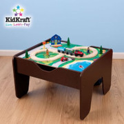 KidKraft 2-in-1 Activity Table with Lego Board in Espresso