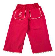 Princess Linens Corduroy Pants - Hot Pink/Light Pink