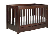 Babyletto Mercer 3-in-1 Crib with Toddler Rail in Espresso