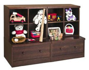 Babyletto Modo Kids Modular 2 Storage Cube and 2 Drawer Set in Espresso Finish