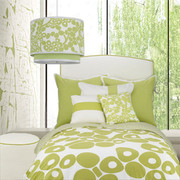 Oilo Modern Berries Duvet Set - Spring Green