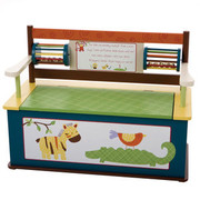 Levels of Discovery Jungle Jingle Bench Seat with Storage