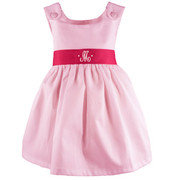 Princess Linens Garden Princess Pique Dress-Hot Pink Sash - 5006PH