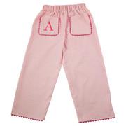 Princess Linens  Pique Pants - Pink/Hot Pink