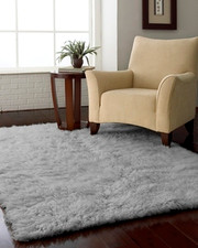 nuLOOM Rugs Plus Greek Flokati Shag Natural Grey Area Rug