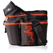 Diaper Dude Dude Bag Brown and Orange Dragon