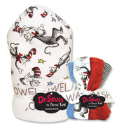 Trend Lab Dr. Seuss Cat in the Hat Hooded Towel and Wash Set