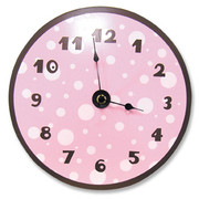 Trend Lab Pink and Brown Dot Clock