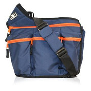 Diaper Dude Dude Bag Navy and Orange