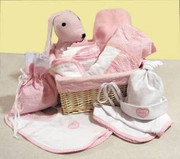Trend Lab 12 Piece Deluxe Pink Gift Basket