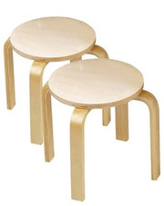 Anatex Wooden Childrens Sitting Stools - Set of 2