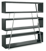 Nuevo Living Kira Shelving Unit in Black