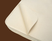 Naturepedic Non-Waterproof Organic Cotton Crib Protector Flannel Flat Pad