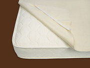 Naturepedic Organic Cotton Waterproof Twin Mattress Protector Pad with Straps