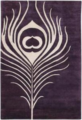 Chandra Rugs Thomas Paul - Tufted Pile Feather Plum-Cream Area Rug