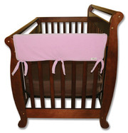 Trend Lab CribWrap Convertible Crib Rail Cover - 27 Inch Pink Fleece