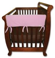 Trend Lab CribWrap Convertible Crib Rail Cover - 27 Inch Pink Fleece