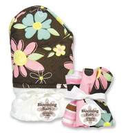 Trend Lab Blossoms Hooded Towel and Wash Set