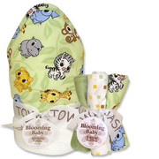 Trend Lab Chibi Zoo Hooded Towel and Wash Cloth Set