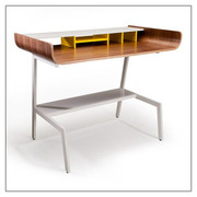 Offi and Co. Half Pipe Desk in Walnut