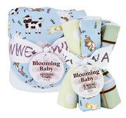 Trend Lab Baby Barnyard Hooded Towel and Wash Cloth Set