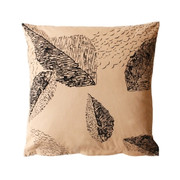 Twinkle Living Cascade Throw Pillow in Beige-Black