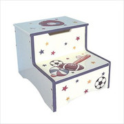 Teamson Design Kids Sports Step Stool with Storage