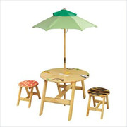 Teamson Design Kids Sunny Safari Outdoor Table and 2 Chairs Set