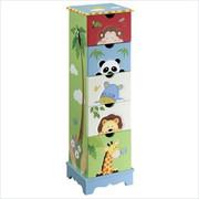 Teamson Design Kids Sunny Safari 5 Drawer Cabinet
