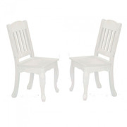 Teamson Design Kids Windsor Chairs in White - Set of 2