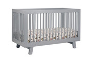 Babyletto Hudson 3-in-1 Convertible Crib with Toddler Rail in Grey