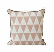 Ferm Living Large Geometry Cushion - Rose