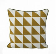 Ferm Living Large Geometry Cushion - Curry