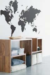 Ferm Living World Map Wall Stickers