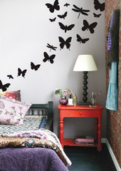 Ferm Living  Black Butterflies  Wall Stickers